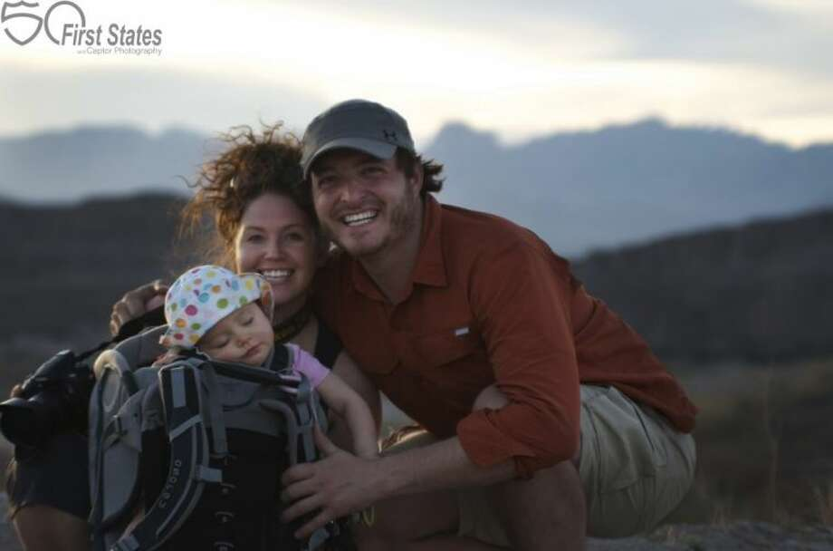 Jennifer, Grant and J Whitney Fisher captured a family self-portrait in the Rio Grande Village at Big Bend National Park.
