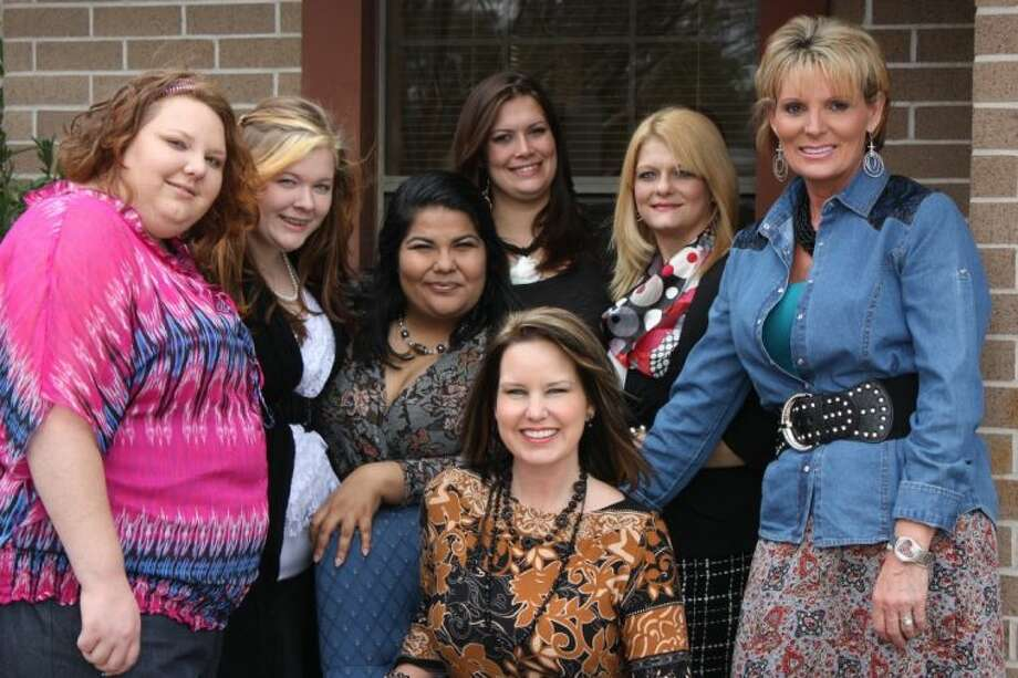 Five women participated in Cleveland's River of Life program, which is a 12-week course on teaching women skills to empower them and improve their lives. Pictured are (seated) Zann LaFrance, (back row, left to right) Catherine Wright, Chelsea Seilheimer, Martha Miranda, Kandace Blackstock, Wendy Fritts and Kelly Jenkel-Axton. LaFrance and Jenkel-Axton led the class during beauty week.