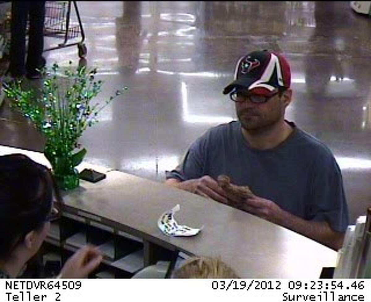 An IBC Bank inside the Kroger Grocery Store located at 3135 FM 528 in Friendswood was robbed Monday, March 19. Police officials have released two security camera images of the suspect. Anyone who could help identify the suspect is urged to contact the Friendswood Police Department at 281-996-3300.