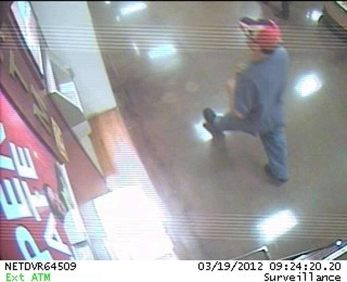 The IBC Bank inside a Friendswood Kroger was robbed Monday, March 19 at approximately 9:25 a.m. Police officials have released two security camera images of the robber.