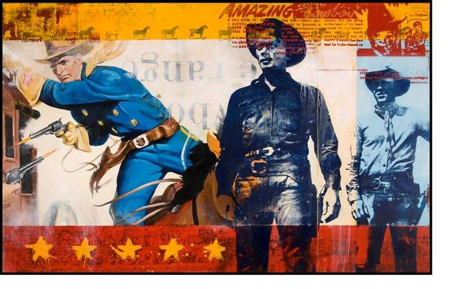 """Artist Ray Phillips brings pop culture iconography from his boyhood to his new collection, titled """"Reversion."""""""