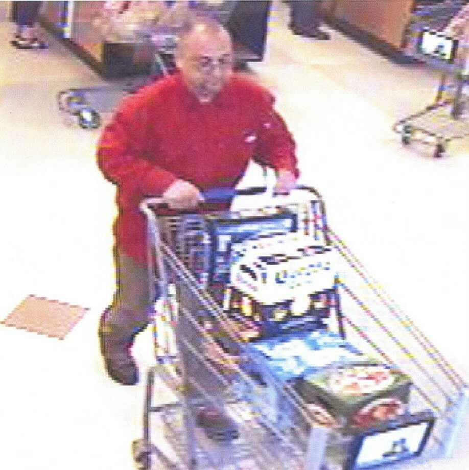 Surveillance cameras at stores in Friendswood, Pasadena, League City, La Porte and Houston captured this suspect making purchases with stolen credit cards.