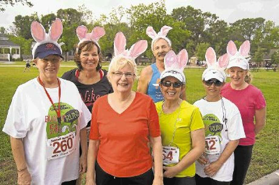Bunny-eared participants from the 2012 Bunny Run in Tomball. Photo: Submitted / @WireImgId=2617243