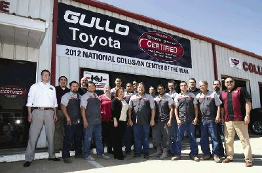 The collision team at Gullo Toyota in Conroe was named the 2012 Toyota Certified Collision Center Triple Crown winner for outstanding service.
