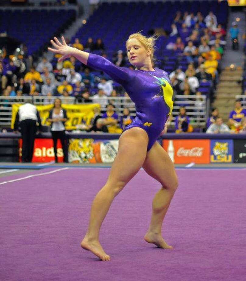 LSU senior gymnast Susan Jackson, a 2006 Klein High graduate, won the NCAA Individual Championship and the NCAA Beam Championship on April 24 in Gainesville, Fla. (Photo Courtesy of LSU Athletics)
