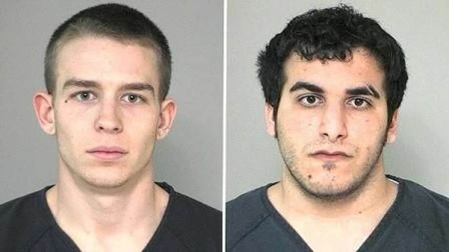 Juliano Giannotti (left) and Leith Kalef are charged with burglary of a habitation for incidents in Fort Bend and Harris counties. In addition, Giannnotti is s charged with theft, possession of a controlled substance in a drug free zone, and theft of property bond forfeiture. Photo: ABC-13