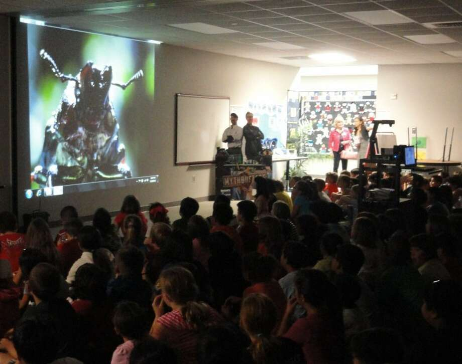 Exley Elementary third graders enjoyed popcorn while viewing a special screening of the Discovery Channel's award-winning LIFE series.
