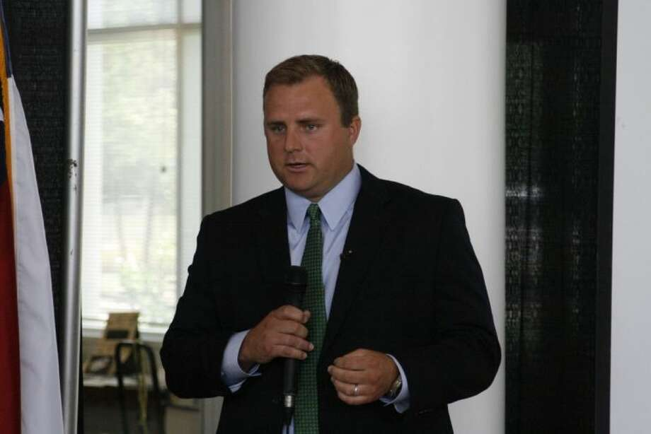 Michael Johnson, a Friendswood Development representative, shared the vision for Tavola, a master-planned community at the beginning of Roman Forest, at Community Chamber of Commerce of East Montgomery County June 5 luncheon.