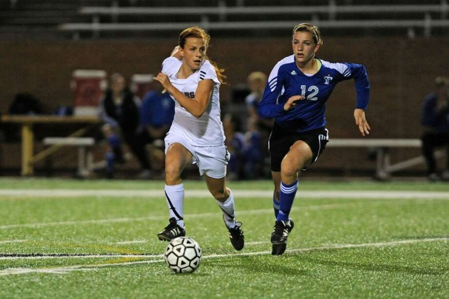 Cinco Ranch and Katy Taylor will face off again in the girls soccer playoffs on Tuesday.