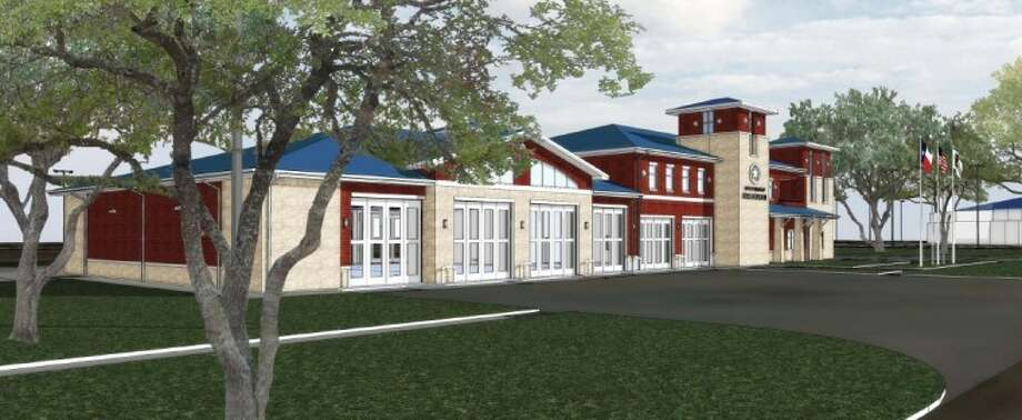 Artist's rendering of proposed new Webster fire station.