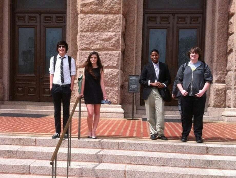 Debate students Jacob Gonzales, Ashley Lance, Josh Coleman and Josh Jennings competed in state UIL competition March 15-17. Lance and Gonzales finished second in the state.