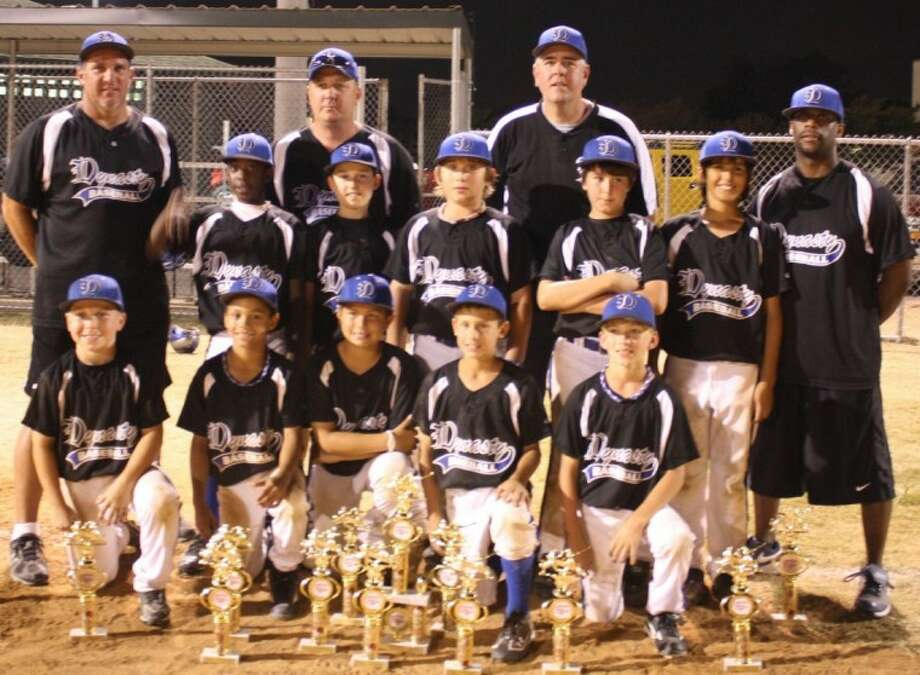 The Dynasty Black 10-year-old premier team recently took second place at the USSSA Global Texas State Tournament. On the back row, from left, are Broch Holmes, Masyn Winn, Nicholas Hinojosa, Tommy Ivey and Matthew Eichelsdorfer. On the middle row, from left, are Payton Harden, Ethan Maddox, Samuel Martin, Patrick Hine and Caleb Cannon. The coaches are Tom Ivey, Paul Holmes, Todd Hine and the manager is Jason Harvey.