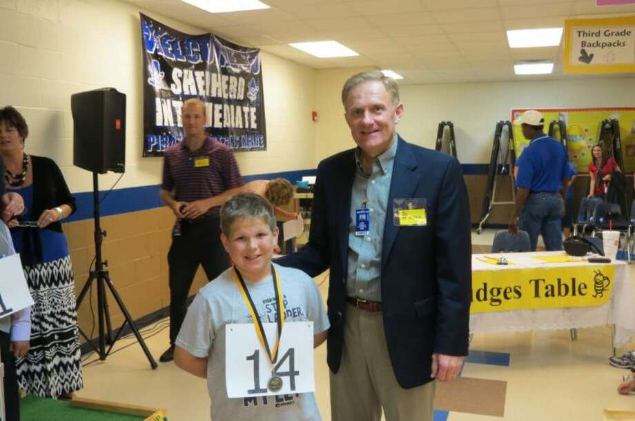 Champion Speller Jayce Allsbrooks and Superintendent Jody Cronin Photo: Submitted Photo