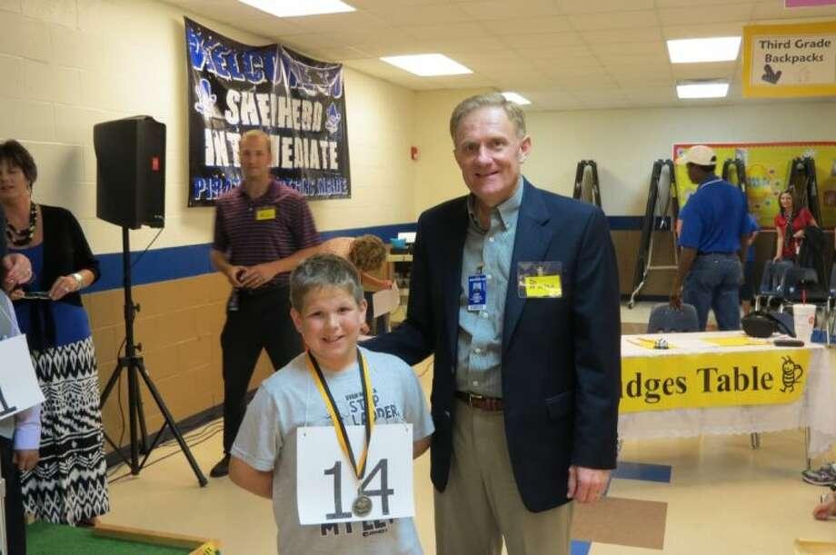 Champion Speller Jayce Allsbrooks and Superintendent Jody Cronin Photo: Submitted Photo