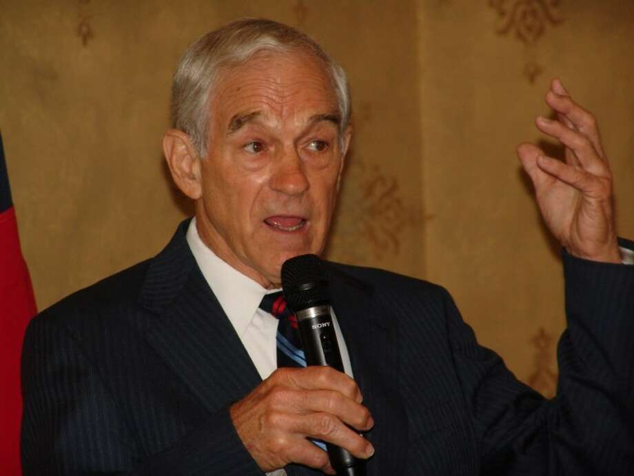 Congressman and Presidential Candidate Ron Paul speaks in League City on Tuesday (May 17).