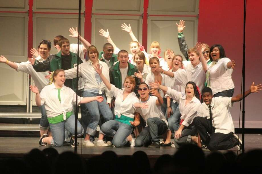 """Spring High's Pop Show showcases music from all eras. Pictured is last year's Chamber Choir performing to the 50's hit """"Your Momma Don't Dance"""""""