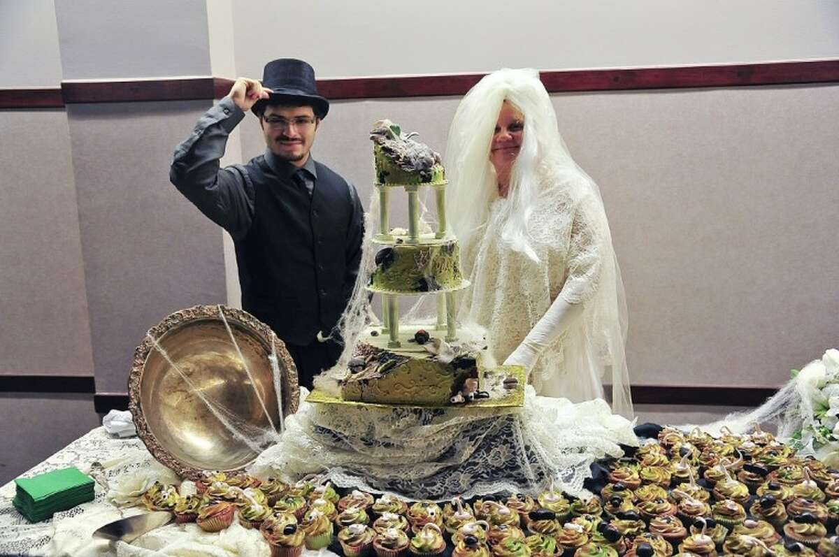 San Jacinto College (SJC) student Atai Trevino portrayed the character of Pip, and English professor Dr. Lorena Horton played the role of the shrewish Miss Havisham during the