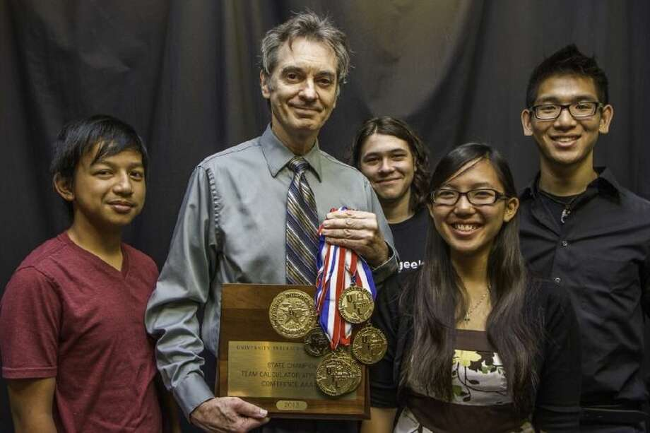 Pictured, left to right, are Opus Fontillas, Coach Don Kirby, Zachary Fradette, Christine Mai and Kevin Yee. Photo: SUBMITTED PHOTO