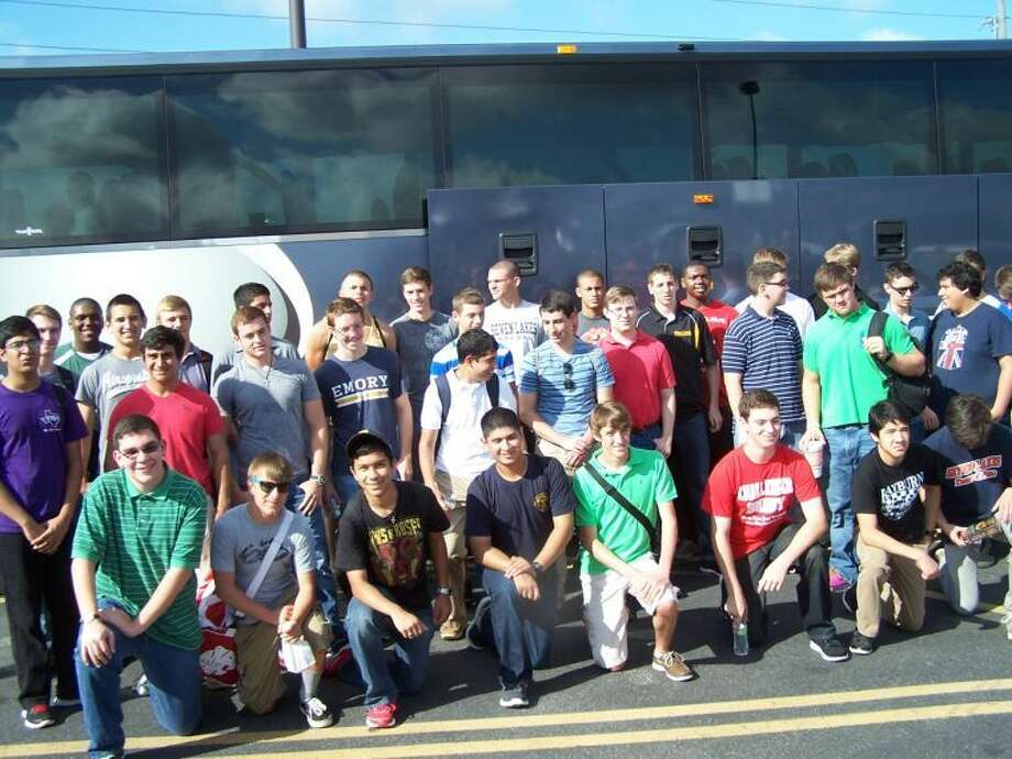 Katy-area boys joined some boys from Houston for the bus ride to Austin on June 9 for Boys State, sponsored by The American Legion. Photo: Submitted