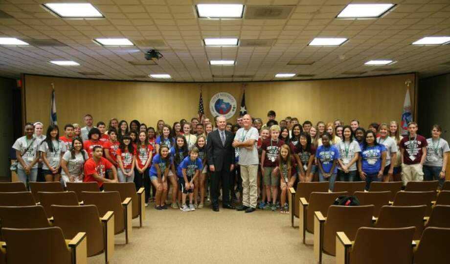 Fort Bend Leadership Class of 2012 visiting Rosenberg City Hall with Mayor Vincent Morales