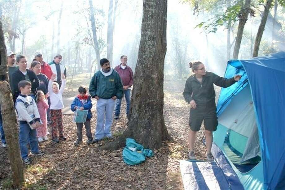 Family camping is a popular activity at nearby Brazos Bend State Park.