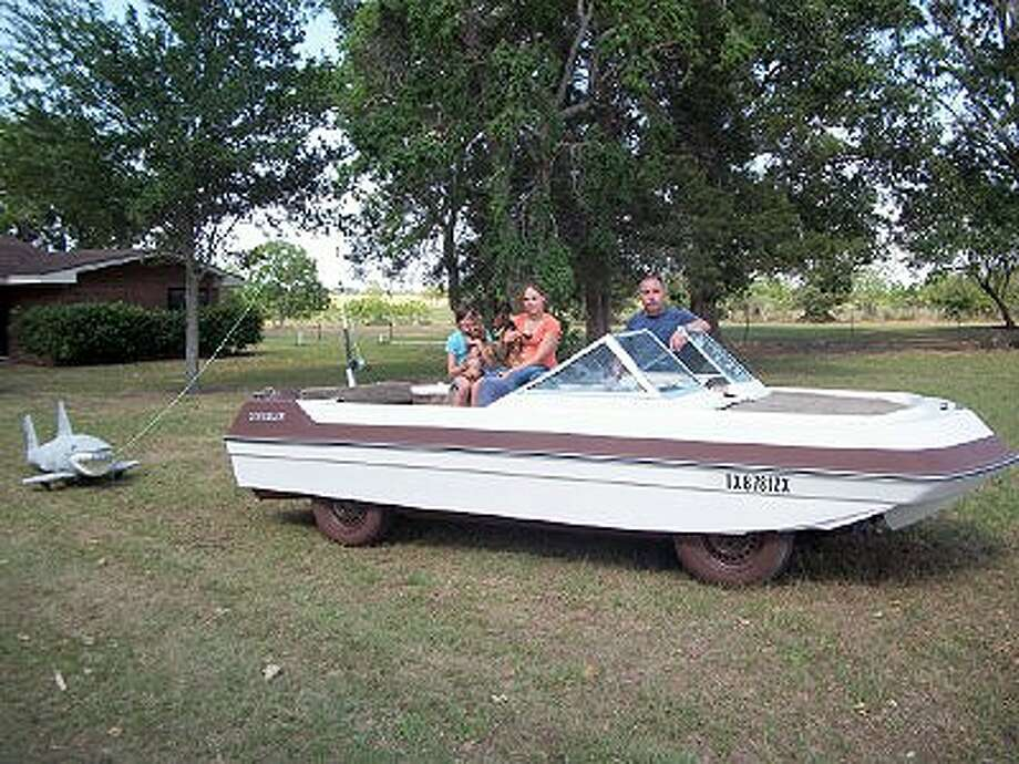 """On Sunday, May 22, Waller's Tom and Tami Jeffery, with their """"Redneck Yacht Club"""" Art Car, will compete alongside 250 pieces of mobile eye candy in the oldest and largest Art Car Parade on earth held in Houston. The parade starts at 1 p.m. at Allen Parkway, at Waugh and turning at Bagby. The Art Car Ball will take place at the Fabulous Orange Show Monument (2402 Munger Street) on May 20 at 7 p.m. Art Cars will be on display throughout the ball along with a lineup of Houston's finest mobile food trucks that will be competing in a battle of taste."""