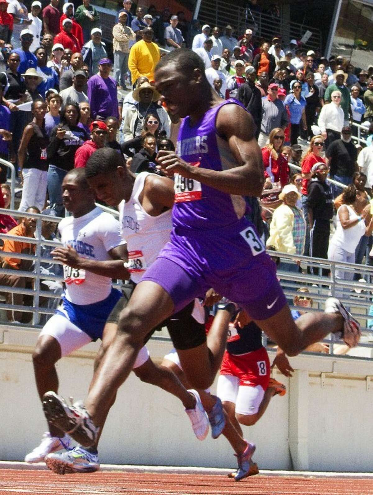 Multi-year state champion Cameron Burrell, a Ridge Point graduate, qualified for the NCAA Indoor Championships as a freshman at Houston.