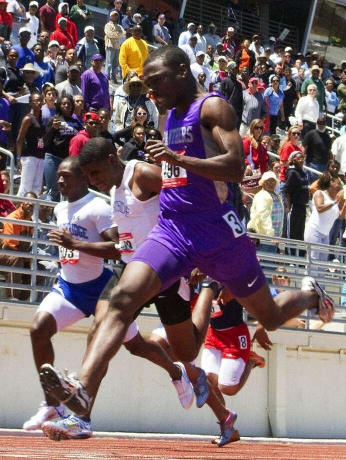 Multi-year state champion Cameron Burrell, a Ridge Point graduate, qualified for the NCAA Indoor Championships as a freshman at Houston. Photo: HCN File Photo