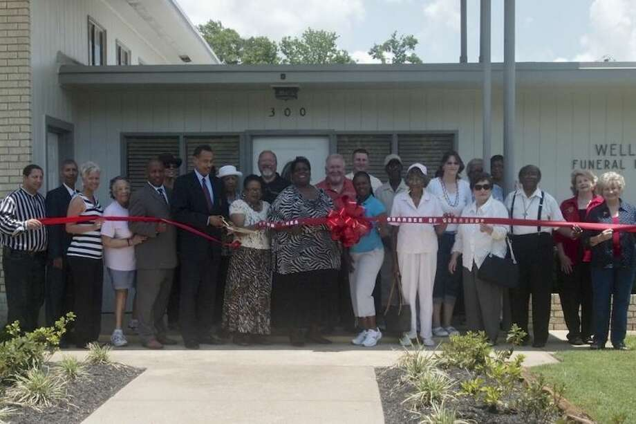 The Liberty-Dayton Chamber of Commerce held a ribbon cutting Friday, June 14, for one of its newest members, Wells Funeral Services, located at 300 Alabama in Liberty. Photo: CASEY STINNETT
