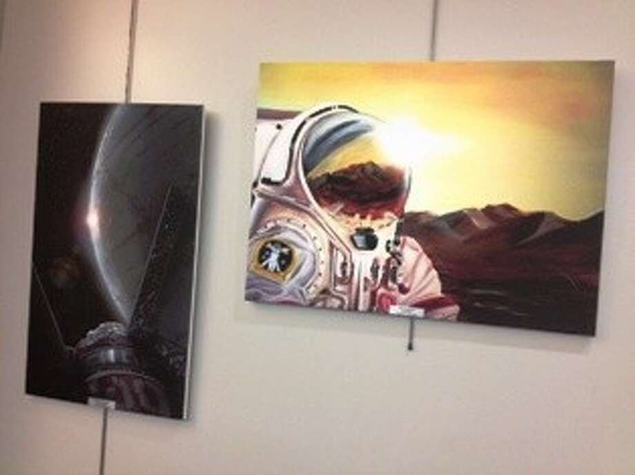 Freeman Library is privileged to have on display now through August works created by young artists as part of the Humans in Space Youth Art Competition. Photo: Submitted Photo