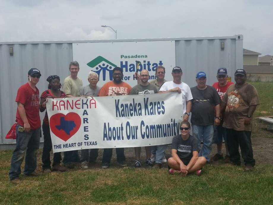 Kaneka volunteers help build a home with Habitat for Humanity Pasadena. Photo: SUBMITTED PHOTO