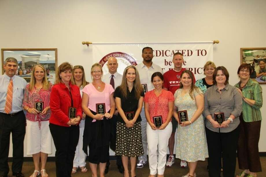 Pictured, from left, are Superintendent Dr. Todd Stephens, Katy Spell, Michelle Adams, Donna Hoskins, Melissa Wendel, Ty Stranger-Thorsen, Mary Nolen, Andrew Glover, Shannon Darby, Matthew Wood, Ann Pettijohn, Cheryl McDuffie, Ronnie Riley, and MISD Board President Deborah Rose Miller. Photo: Submitted