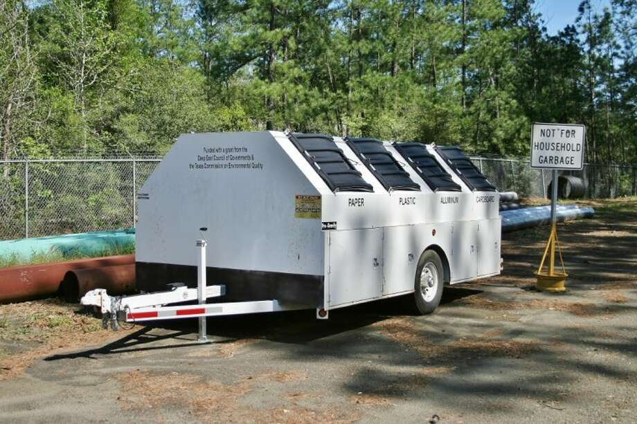 A grant obtained by the Deep East Texas Council of Governments is being used by entities in the region for solid waste and recycling programs. The cities of Center and Woodville use grant money to purchase recycling trailers like the one shown in the photo.