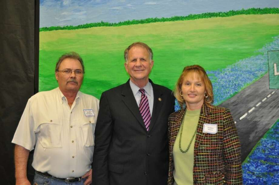 Liberty County business leaders David and Debbie Milam with U.S. Rep. Ted Poe. Photo: SUBMITTED PHOTO