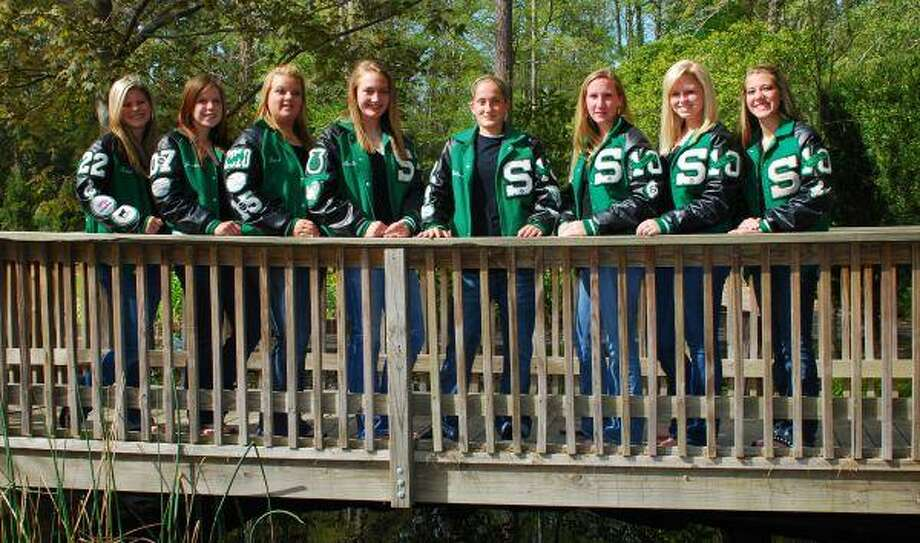 The Spring softball team's eight seniors may go separate ways after the season but will always remain Lady Lions. From left, Tessa Galloway, Jessica Ball, Dawn Martin, Nicole Todd, Chelsea Burk, Katie Livanec, Sarah Kirby and Katie Wright.