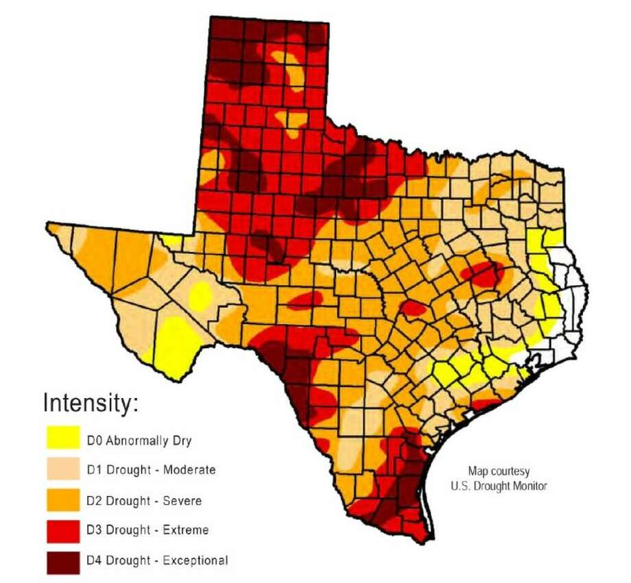 A weekly synopsis of Texas drought conditions show portions of West Texas is suffering a drought. East Texas is still behind on rainfall for the year, but drought conditions are not severe as in other parts of the state.