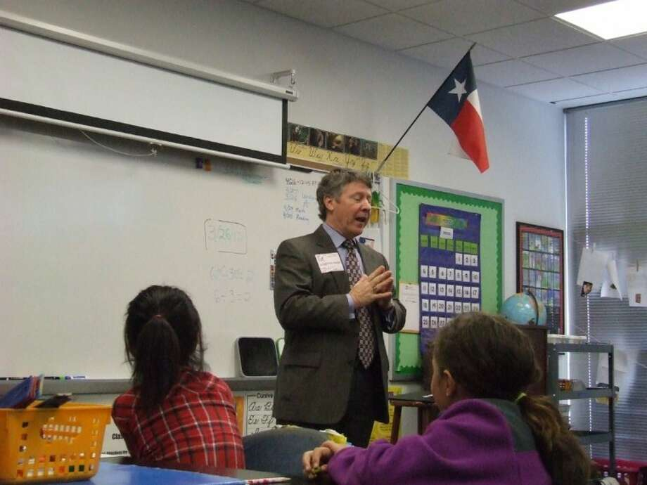 Harris County Judge Ed Emmett had some words of wisdom for students at West U Elementary on Monday.
