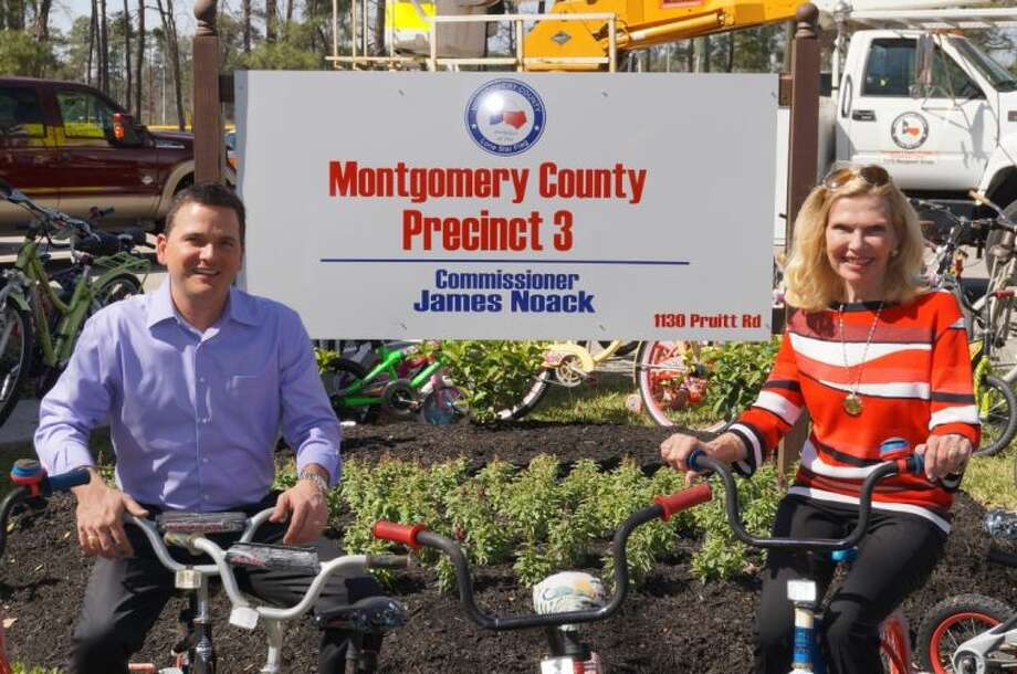 Precinct 3 Commissioner James Noack is shown with Dr. Ann Snyder, president and CEO of Interfaith of The Woodlands. Commissioner Noack has been named the honorary chair of the second annual Le Tour de Woodlands cycling event, which will be Oct. 19.