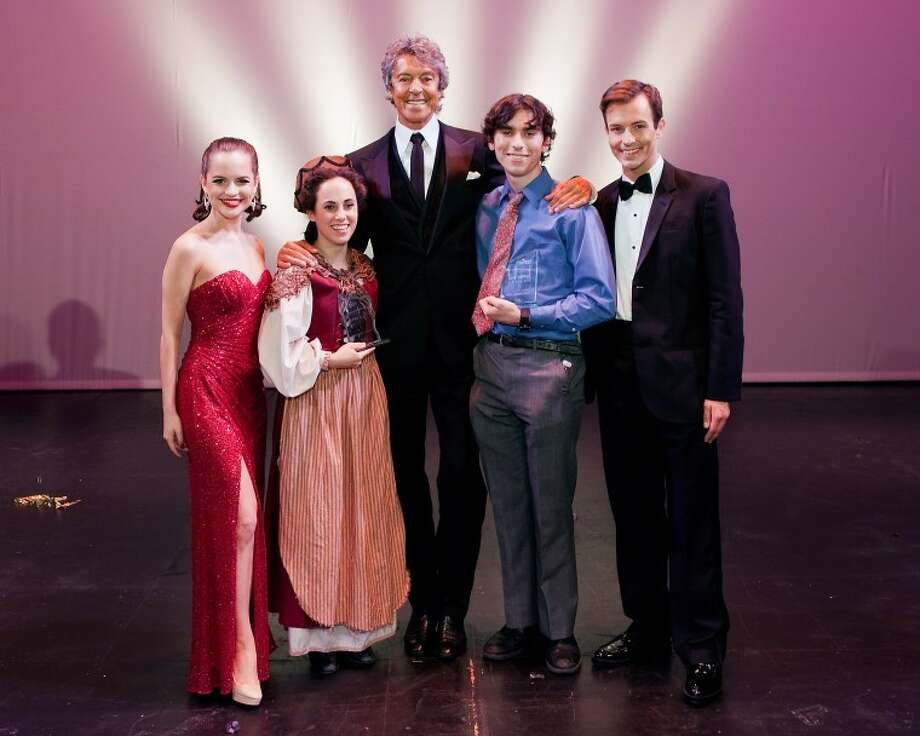 Theatre Under the Stars - TUTS 2011 Tommy Tune Awards. Tommy Tune, center, is pictured with the 2011 winners Photo: Bruce Bennett
