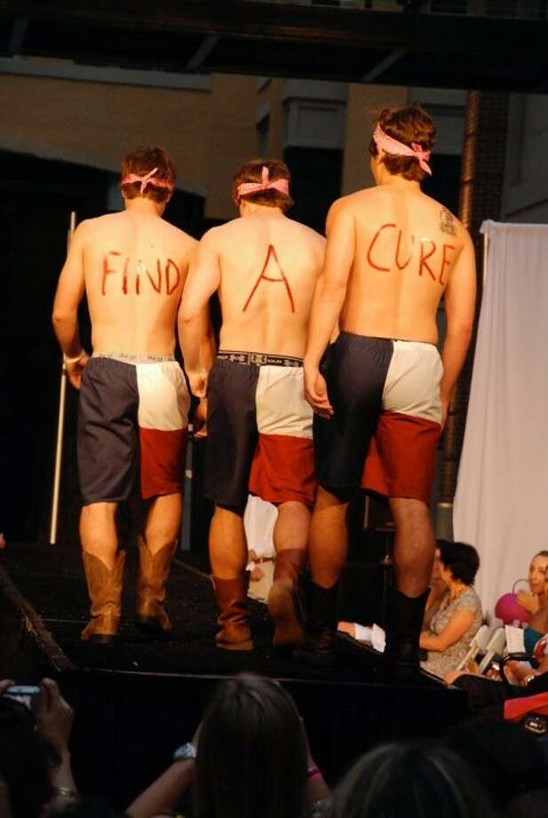 """Find a Cure"" is always the message at the Tickle Me Pink Fashion Show, which benefits Pink Ribbons Project. The 2011 event starts at 7:30 p.m. May 26 at Spring Street Studios, 2101 Winter St.. Tickets cost $10 at th door. For information, visit www.ticklemepinkfashionshow.com."