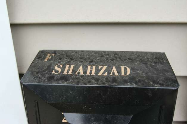 Faisal Shahzad's name is seen on a mailbox outside of the home where her lived May 4, 2010 in Bridgeport, Connecticut. Shahzad, a suspect in this past weekends failed bomb plot in Times Square was taken into custody late Monday by FBI agents and New York Police Department detectives while trying to leave the country.  (Photo by Daniel Barry/Getty Images) Photo: Daniel Barry, Daniel Barry/Getty Images / 2010 Getty Images