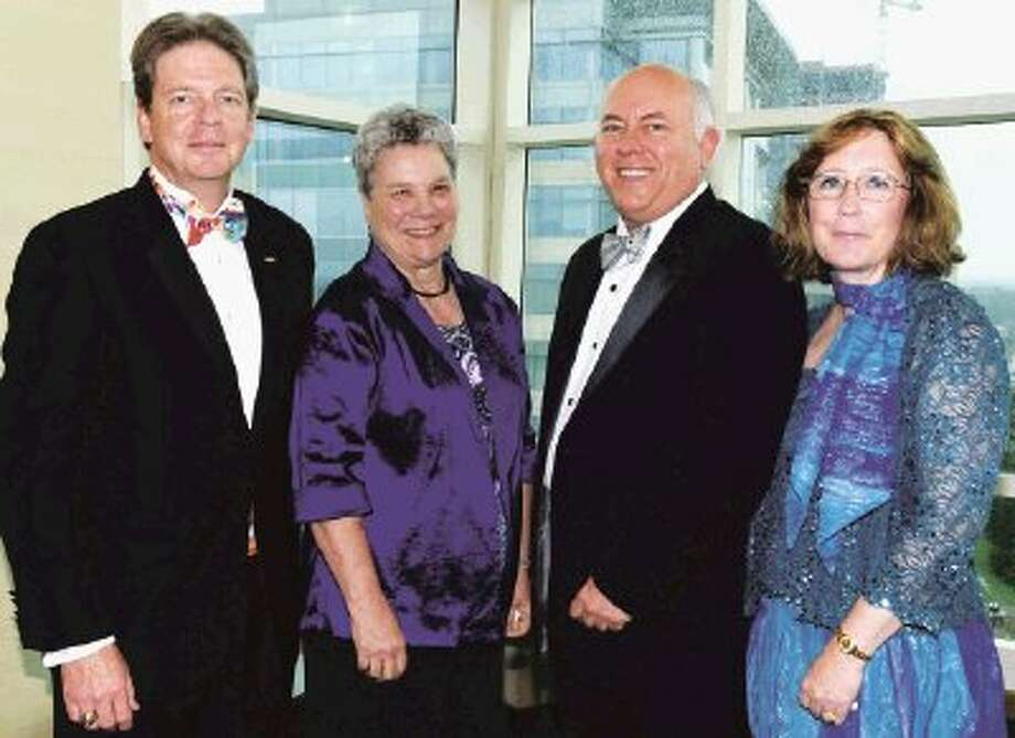 The Lone Star College Foundation's StarGala 2013 was a record-setting success. Pictured at the gala, left to right, are co-chair Ian Powell; Nockie Zizelmann, chair of the foundation's board of directors; Dr. Richard Carpenter, LSCS chancellor; and Linn Powell, co-chair.