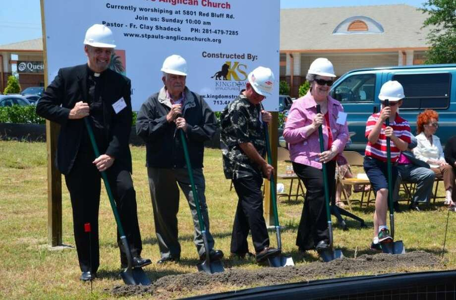 On May 18 St. Paul's Anglican Church held a Groundbreaking Ceremony at the site of its new church building at 11456 Space Center Blvd., near Cullen's restaurant.