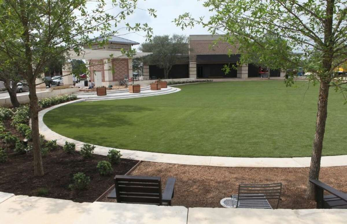 The Central Green project at LaCenterra at Cinco Ranch in Katy. The new community park and entertainment venue will open on Saturday June 1.