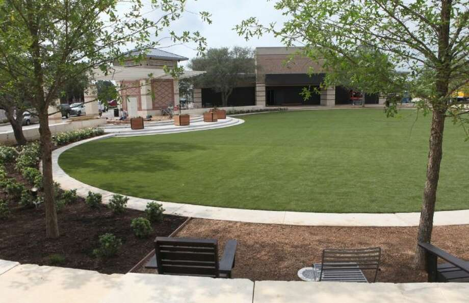 The Central Green project at LaCenterra at Cinco Ranch in Katy. The new community park and entertainment venue will open on Saturday June 1. Photo: Alan Warren