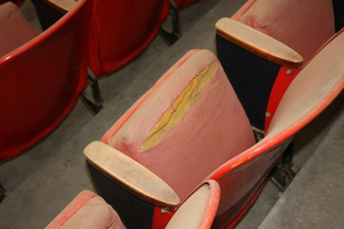 Torn seats were a common sight.