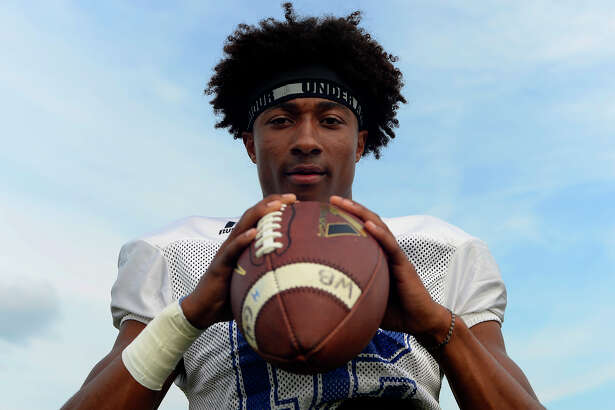 West Brook wide receiver Kandin Robertson has become an important part of the Bruins' offense this year since transferring from Legacy Christian Academy.  Photo taken Tuesday 9/27/16 Ryan Pelham/The Enterprise