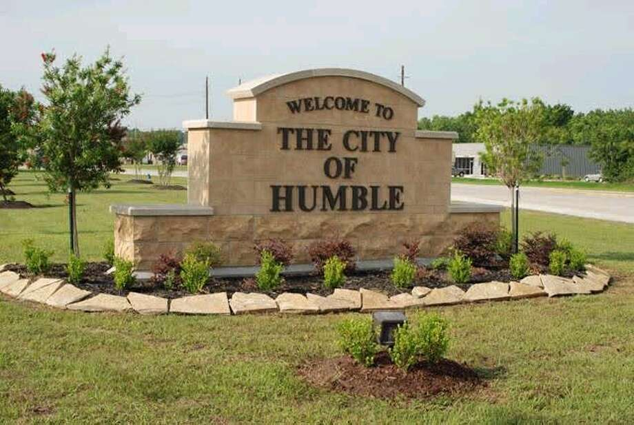 """The City of Humble Beautification Committee worked with the city on the new welcome sign that will be installed at the intersection of the U.S. Highway 59 feeder road and Will Clayton Parkway. The City of Humble is working to make sure the new """"Welcome to Humble"""" sign resembles the one they built on the other side of town at the intersection of FM 1960 at Wilson Road."""