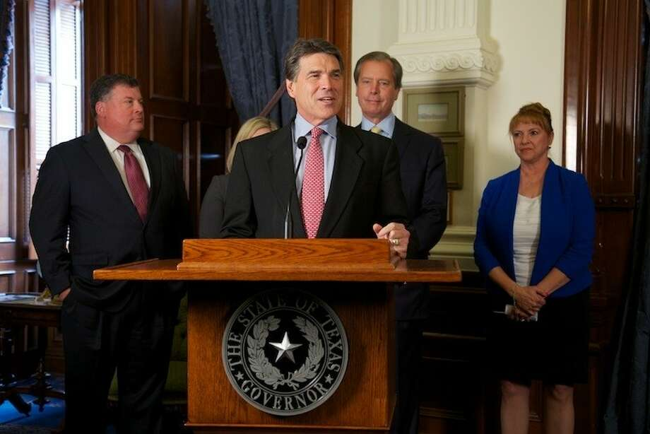 "Governor Rick Perry spoke at a special ceremony to mark the passage of the ""Ken Legler Act""at the Capitol in Austin."