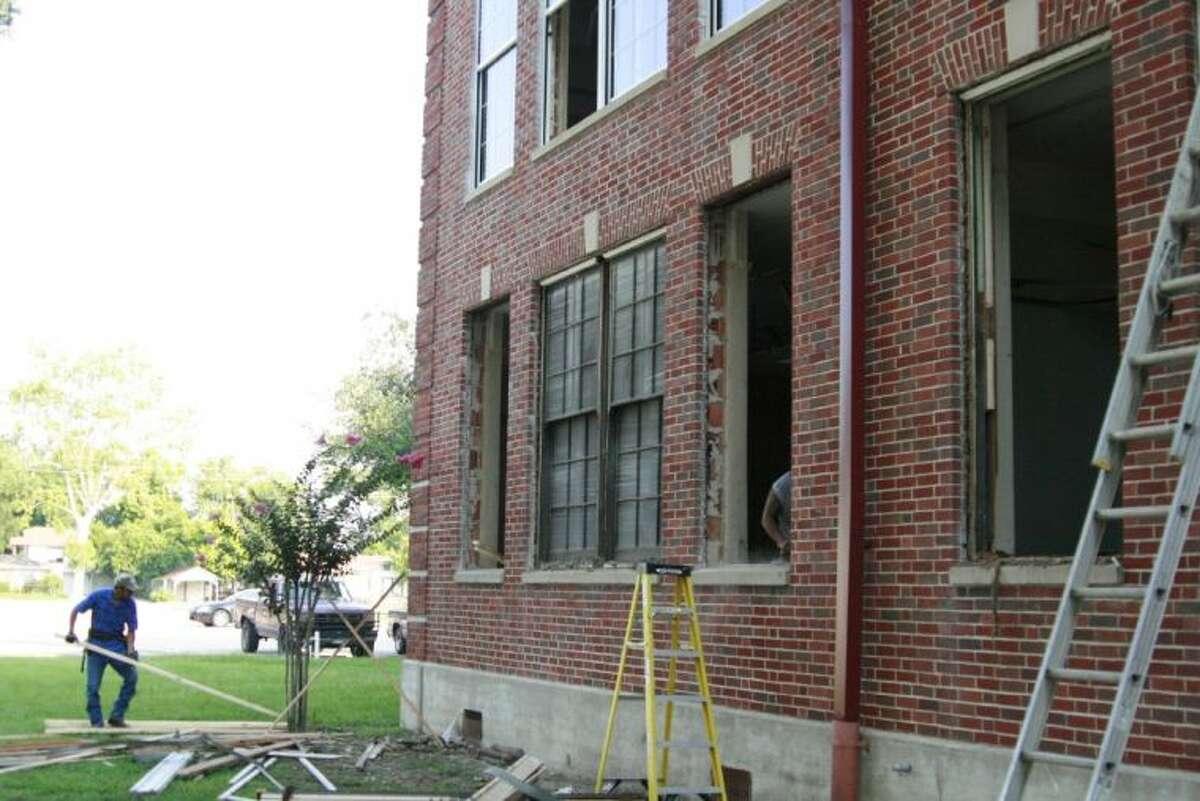 Last year, workers removed the large white shutters covering the window and replaced the panes of glass at Charles Bender High School. The City of Humble city council voted to approve Scott Brady as the architect for the complete renovations of Charles Bender High School.